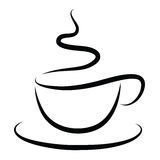 Copo do café quente ilustração royalty free