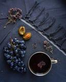 Copo do chá com oréganos Fotografia de Stock