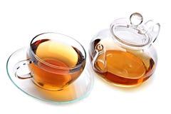 Copo do chá com teapot imagens de stock royalty free