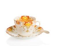 Copo do chá do café da manhã imagens de stock royalty free