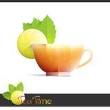 Copo do chá do limão Imagem de Stock Royalty Free