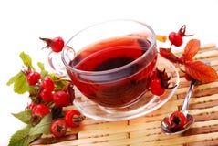 Copo do chá do rosehip Fotografia de Stock