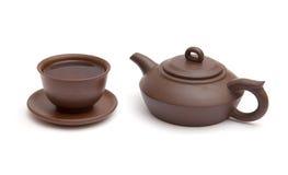 Copo do chá e do teapot Foto de Stock Royalty Free