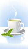 Copo do chá verde Fotos de Stock Royalty Free
