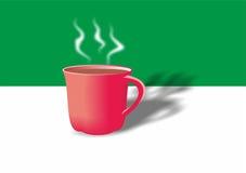 Copo do chá, xícara de café, caneca, bebida quente, utensílios de mesa, vermelhos Foto de Stock