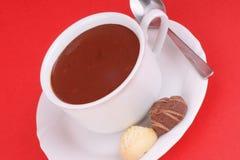 Copo do chocolate quente fotos de stock royalty free