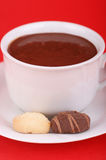 Copo do chocolate quente Fotografia de Stock Royalty Free