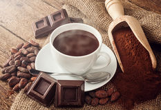 Copo do chocolate quente imagem de stock