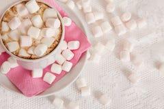 Copo do cocao com marshmallow Fotografia de Stock Royalty Free