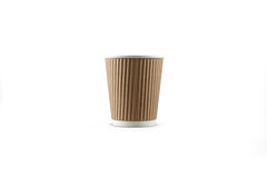 Copo do coffe da caixa Imagem de Stock
