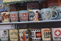 Copo do coffe da propaganda do vintage Imagens de Stock