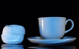 Copo do coffe e do zephyr doce Imagem de Stock Royalty Free