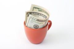 Copo do dólar Imagens de Stock