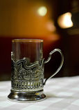 Copo do estilo do vintage no copo-suporte Foto de Stock