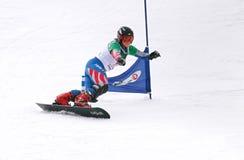Copo do europeu do Snowboard Fotografia de Stock