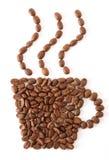 Copo do feijão de café foto de stock royalty free