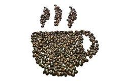 Copo do feijão de café Imagens de Stock Royalty Free