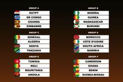 Copo do futebol das nações de África ilustração royalty free