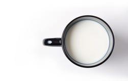 Copo do leite imagens de stock
