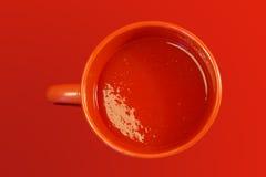 Copo do suco de tomate Fotos de Stock