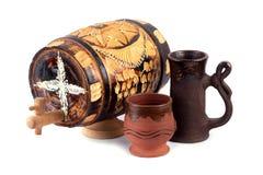 Copo do tambor e da argila Imagem de Stock Royalty Free