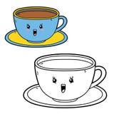 Copo dos desenhos animados Imagens de Stock Royalty Free