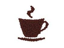 Copo dos feijões de café Fotos de Stock Royalty Free