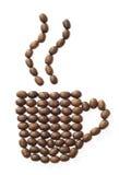 Copo dos feijões de café Fotos de Stock