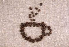 Copo dos feijões de café Imagens de Stock Royalty Free