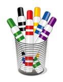 Copo dos marcadores Felt-tip (JPG+E Imagem de Stock