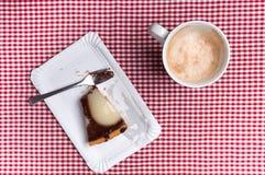 Copo e bolo de café fotografia de stock