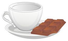 copo e chocolate ilustração do vetor