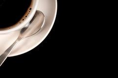 Copo e colher de café Fotografia de Stock