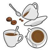 Copo e feijão de café Foto de Stock