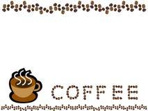 Copo e feijão de café   Fotos de Stock Royalty Free