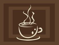 Copo e fumo de café Fotos de Stock Royalty Free