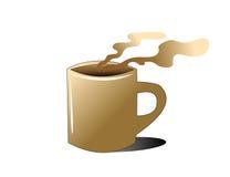 Copo e fumo de café Imagens de Stock