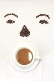 Copo e grão de café. Fotografia de Stock Royalty Free