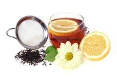 Copo e limão de chá Fotos de Stock