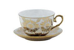 Copo e pires para o café ou o chá diário fotografia de stock royalty free