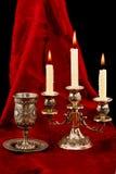 Copo e velas Fotografia de Stock Royalty Free