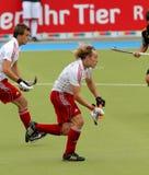Copo europeu Alemanha 2011 de Inglaterra V Belgium.Hockey Imagem de Stock