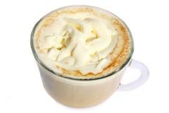 Copo isolado do cappuccino Imagens de Stock Royalty Free