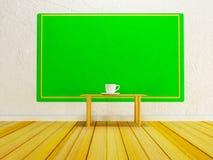 Copo na tabela de madeira Foto de Stock Royalty Free