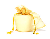 Copo no saco, presente de casamento. Fotografia de Stock