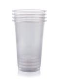 Copo plástico fotografia de stock