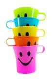 Copo plástico colorido Foto de Stock