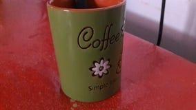 Copo simples da vida de Caffee imagens de stock