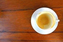 Copo vazio branco do café do cappuccino fotos de stock