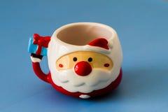 Copo vermelho de Santa Fotografia de Stock